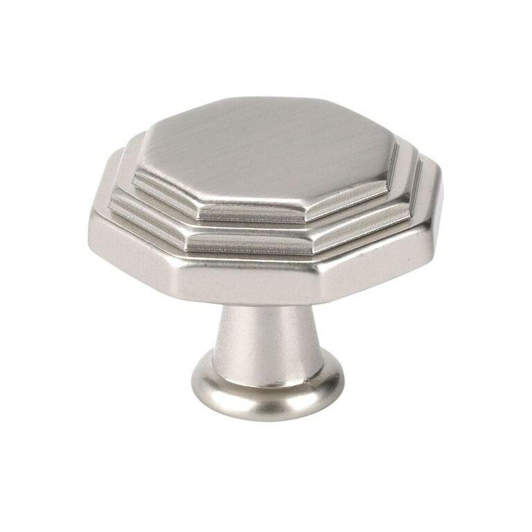 Topex 10819B35 Octagon Cabinet Knob Satin Nickel