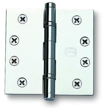 Omnia 985BB/4BTN 4 Inch B.B. Button Tip Hinge