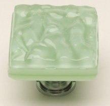 Sietto K-216 Glacier 1-1/4 Inch Mint Green Cabinet Knob