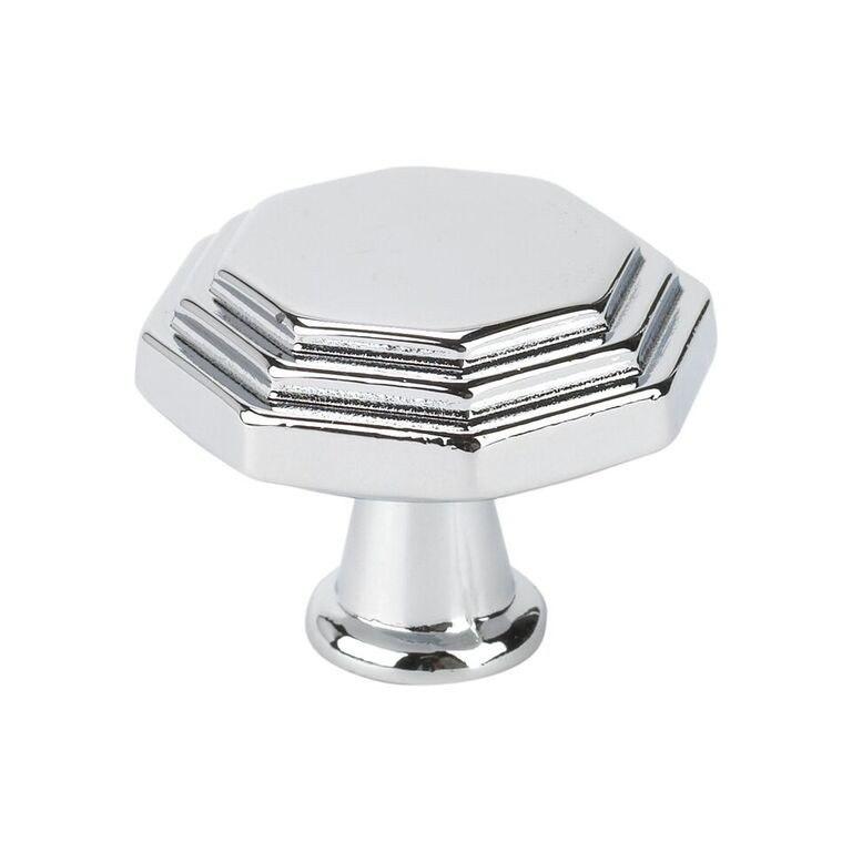 Topex 10819B40 Octagon Cabinet Knob Bright Chrome