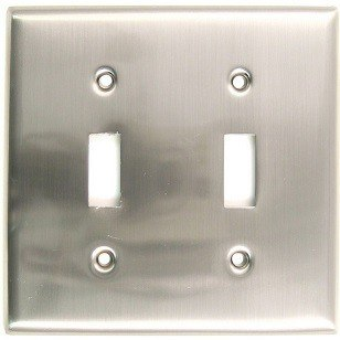 RUSTICWARE 785 DOUBLE SWITCH SWITCHPLATE