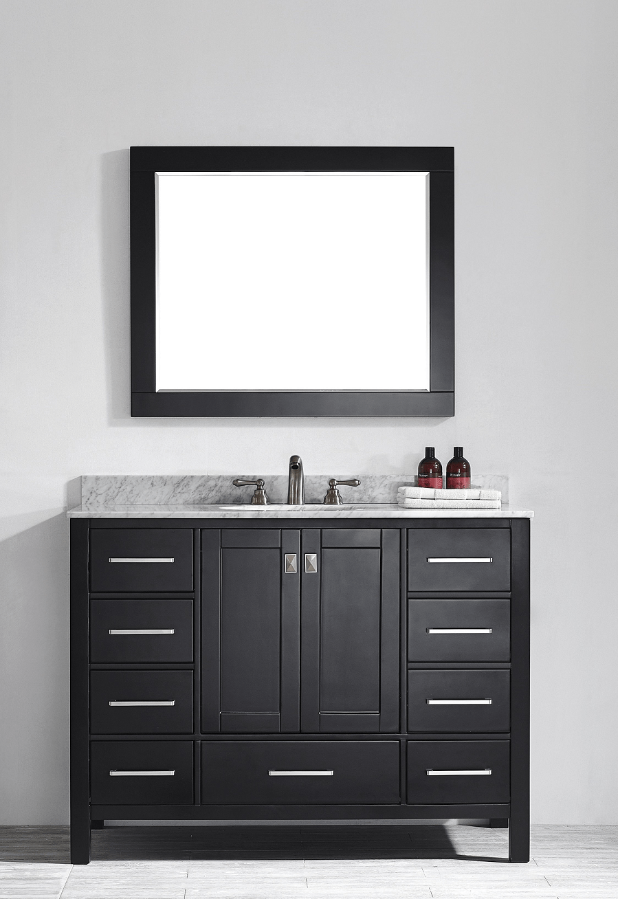 Eviva EVVN199-48ES Aberdeen 48 Transitional Espresso Bathroom Vanity with White Carrera Countertop