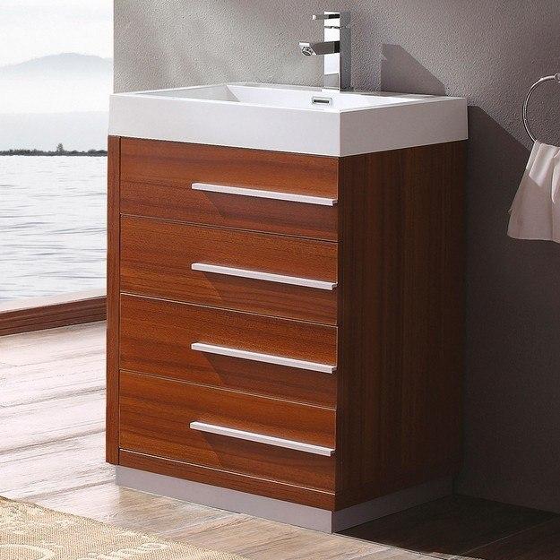Fresca Fst8091tk Teak Bathroom Linen Side Cabinet W 2
