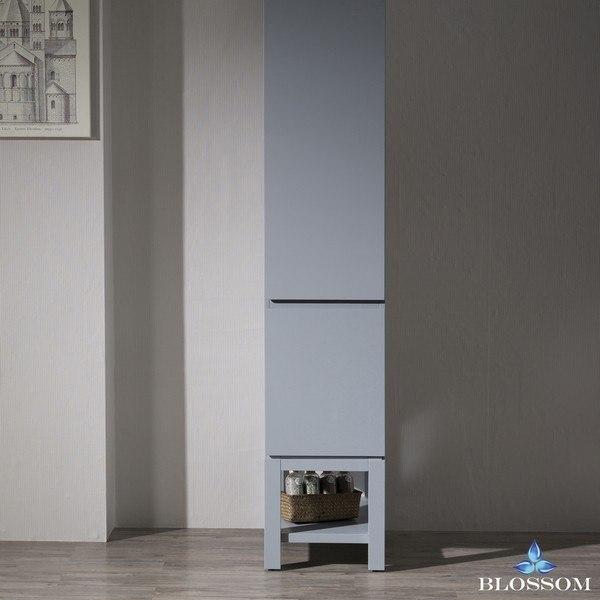 Blossom 000 15 Monaco Inch Linen Cabinet In Metal Grey