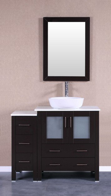 Bosconi AB130BWLPS1S 42 Inch Single Vanity Set in Espresso