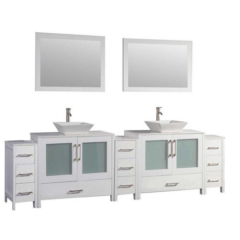 Mtd Mtd 1196w Jordan 96 Inch Double Sink Bathroom Vanity Set In White Mtd 1130w Mtd1130w