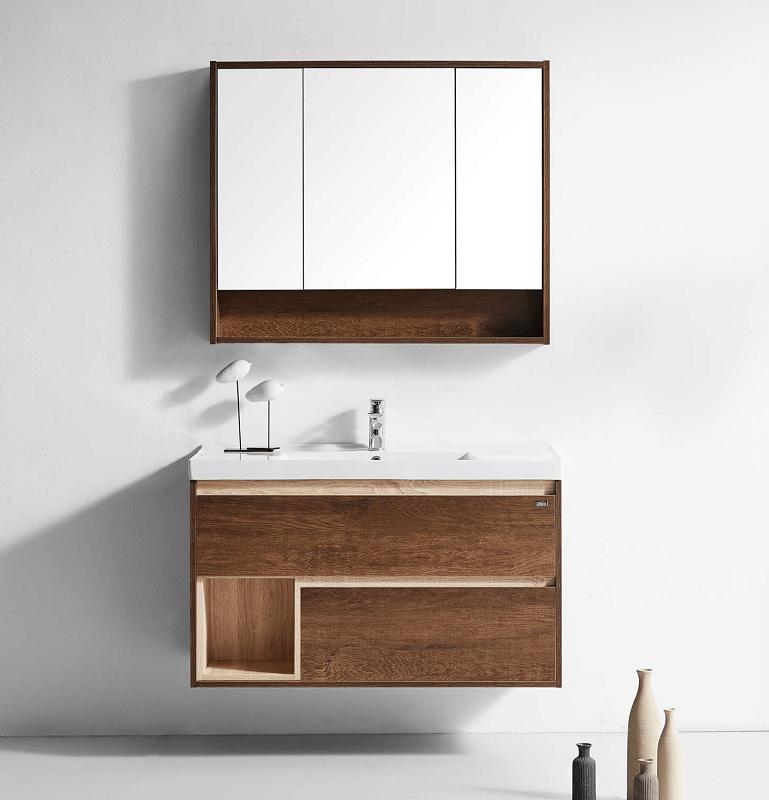 Flawless Py1610 4 Boston 40 Inch Single Sink Bathroom Vanity Set In Walnut