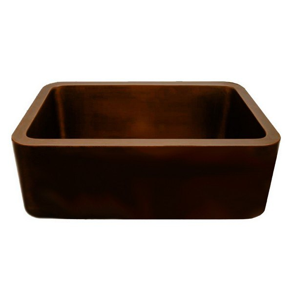WHITEHAUS WH2519COFC COPPERHAUS 25 INCH RECTANGULAR UNDERMOUNT SINK WITH SMOOTH FRONT APRON