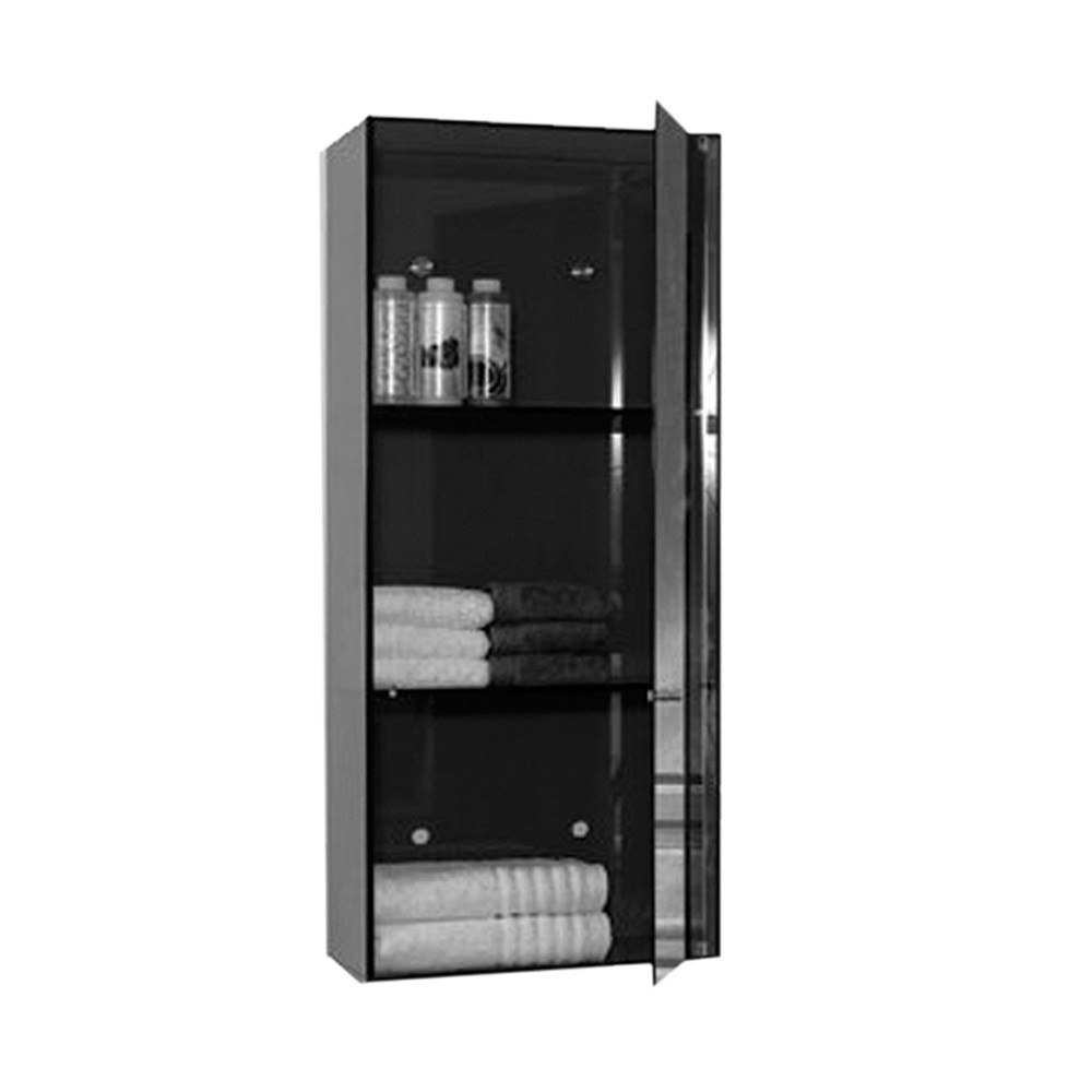 WHITEHAUS WHAEVE02 AERI 15-3/4 INCH VERTICAL GLASS WALL MOUNT STORAGE UNIT