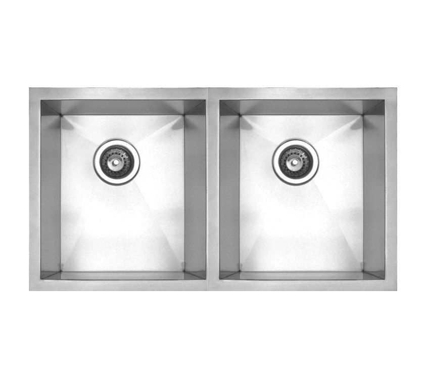 WHITEHAUS WHNC2917 NOAH'S COLLECTION 29 INCH CHEFHAUS SERIES DOUBLE BOWL UNDERMOUNT SINK
