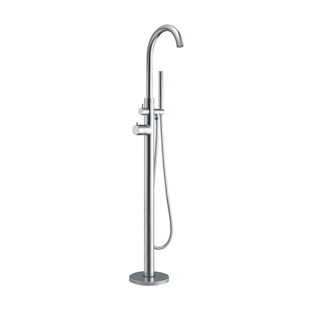 WHITEHAUS WHT7369S-C BATHHAUS FREESTANDING 9 INCH SINGLE LEVER TUB FILLER