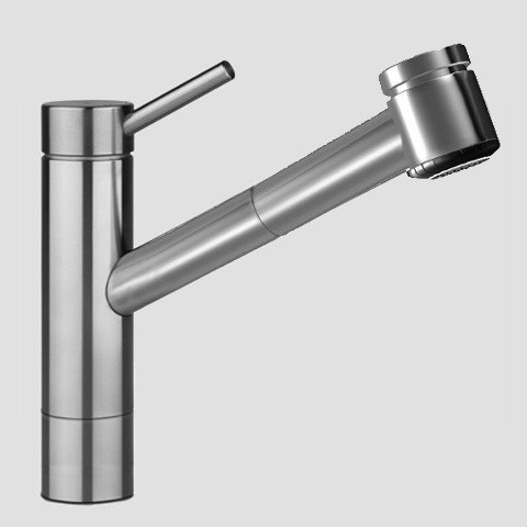 KWC 10.271.333.700 Suprimo Single-Lever Mixer in Solid Stainless Steel