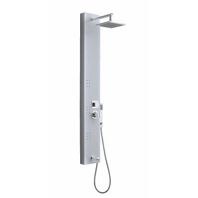 OVE DECOR 15COL-002610-GENTO 3-JET SHOWER TOWER SYSTEM IN STAINLESS STEEL