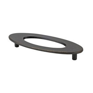 TOPEX 2564327 OVAL PULL WITH HOLE, BRONZE, 3 3/4 INCHES (96MM) CENTER TO CENTER