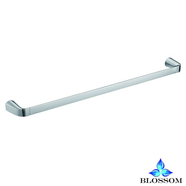 Blossom BA02 106 01 Wall Mounted 24 Inch Single Towel Bar  in Chrome