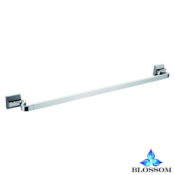 Blossom BA02 206 01 Wall Mounted 24 Inch Single Towel Bar  in Chrome