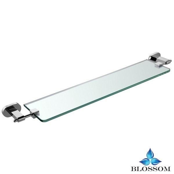 BLOSSOM BA02 307 01 WALL MOUNTED GLASS SHELF IN CHROME