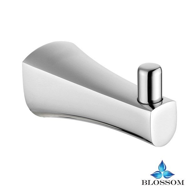 Blossom BA02 401 01 Wall Mounted Robe Hook in Chrome