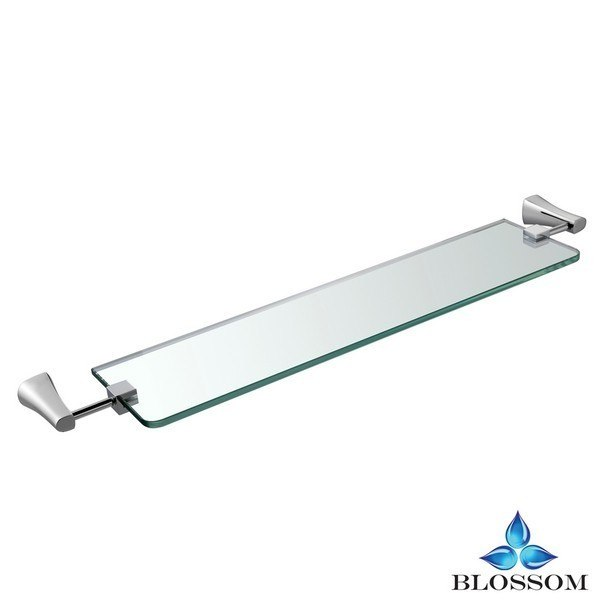 BLOSSOM BA02 407 01 WALL MOUNTED GLASS SHELF IN CHROME