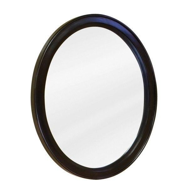 Hardware Resources MIR056 Demi-Lune Espresso Jeffrey Alexander Mirror 22 x 1-1/4 x 27- 1/2 Inch