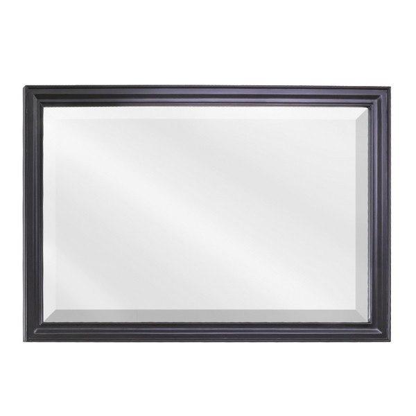 Hardware Resources MIR057D Douglas Bath Elements Mirror 42 x 1 x 28 Inch in Black