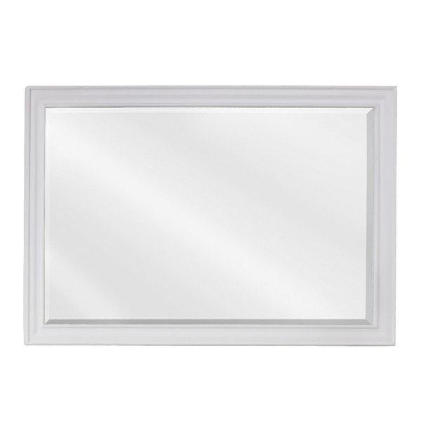 Hardware Resources MIR094D Douglas Bath Elements Mirror 42 x 1 x 28 Inch in White