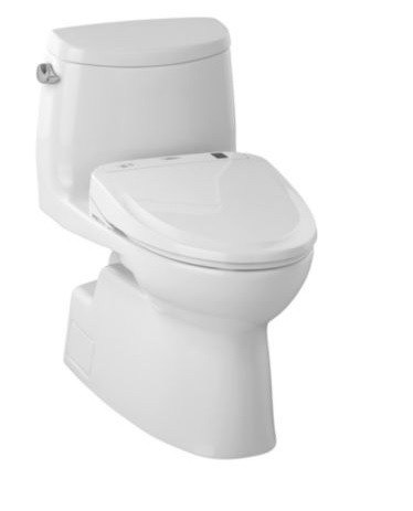 TOTO MW614584CEFG#01 Carlyle II Connect+ S350e One-Piece Toilet, 1.28 GPF with CeFiONtect