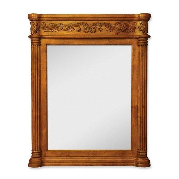 Hardware Resources MIR012 Burled Ornate Jeffrey Alexander Mirror 33-11/16 x 3-1/2 x 42 Inch