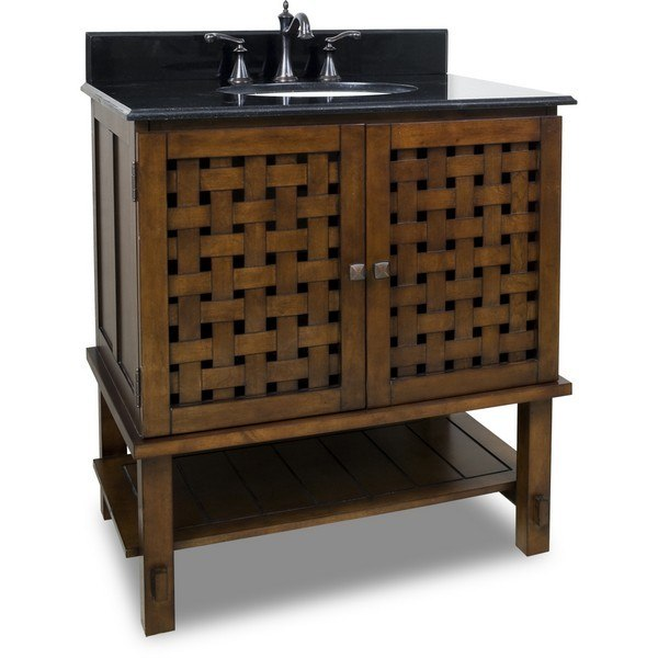 Hardware Resources VAN055-T Lyn Bath Elements Vanity 31-1/2 x 22-1/2 x 35 Inch