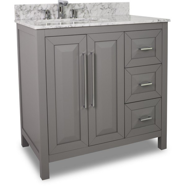 HARDWARE RESOURCES VAN100-36-T CADE CONTEMPO JEFFREY ALEXANDER VANITY 36 X 22 X 36 INCH