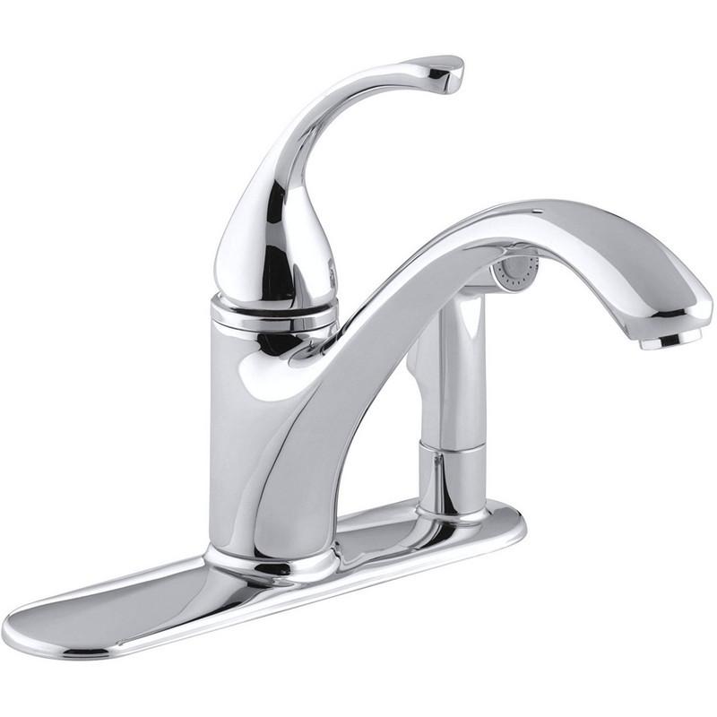 Kohler 10413 Cp Forte Spray Kitchen Faucet Includes Side Sprayer And Cover Plate Kohler 10413 Bn Forte Spray