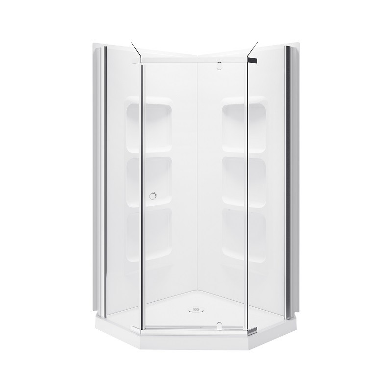 A&E BATH AND SHOWER SK-NA-38-KIT 38 INCH NEVADA  NEO ANGLE SHOWER ENCLOSURE KIT WITH ACRYLIC BASE AND WALLS