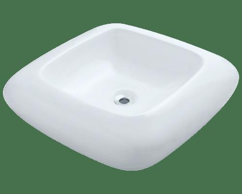 Polaris P001V 20-1/8 Inch Pillow Top Porcelain Vessel Sink