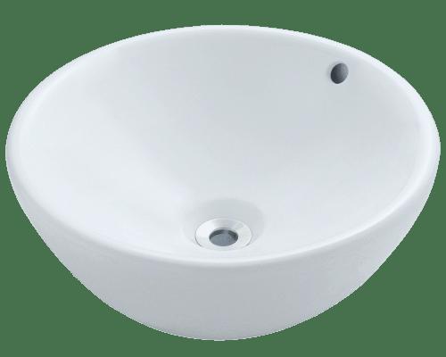 Polaris P0022V 16-1/8 Inch Porcelain Vessel Sink