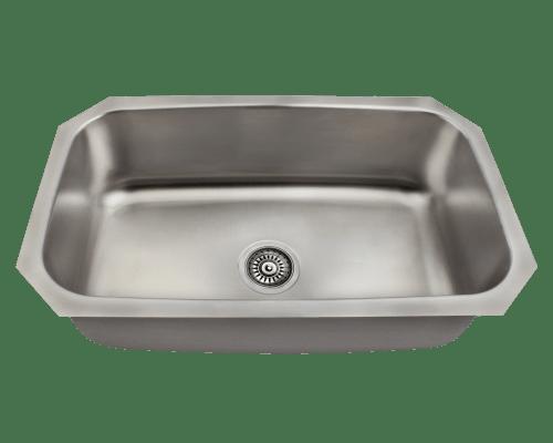 Polaris P0301US Stainless Steel Kitchen Sink 30-1/2 Inch Brushed Satin