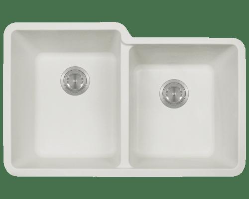 Polaris P108 32-1/2 Inch Double Offset Bowl AstraGranite Sink