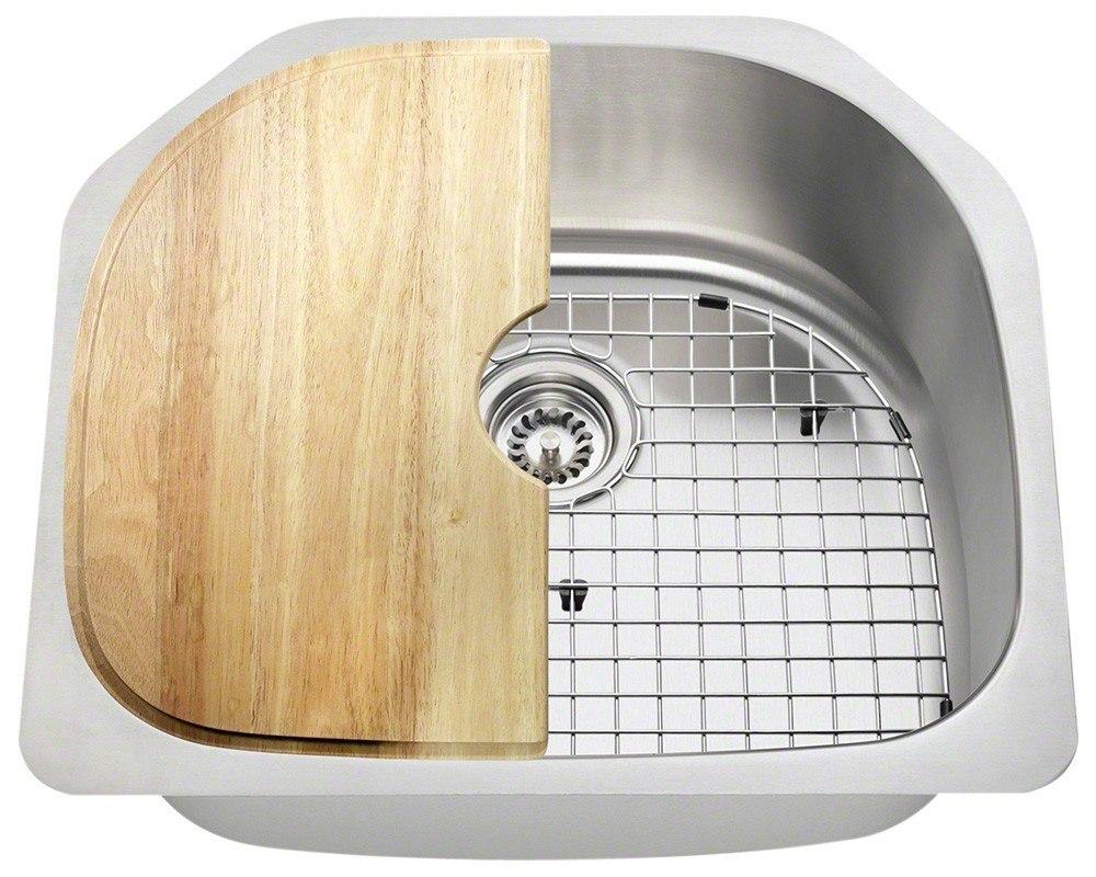 Polaris P1242-16-ENS 16 Gauge 23-1/2 Inch Kitchen Ensemple in Brushed Satin