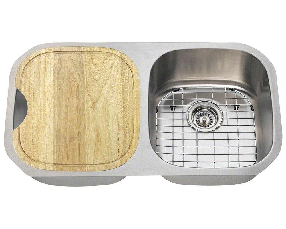 Polaris P205-16-ENS 16 Gauge 32-1/2 Inch Kitchen Ensemple in Brushed Satin
