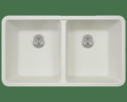 Polaris P208 32-1/2 Inch Double Equal Bowl AstraGranite Kitchen Sink