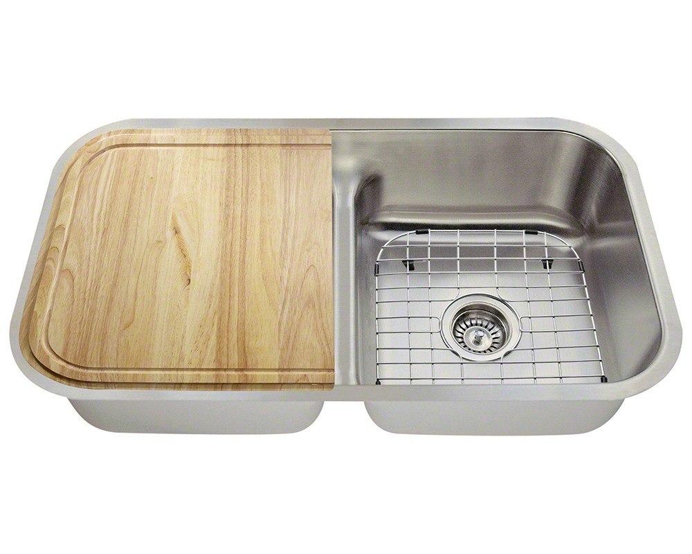 Polaris P215-16-ENS 16 Gauge 32-1/2 Inch Kitchen Ensemple in Brushed Satin