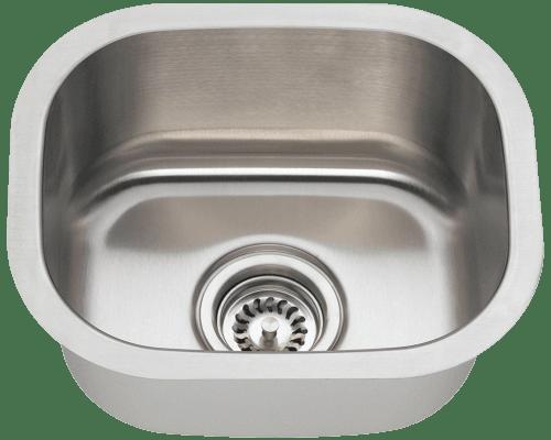 Polaris P2151 Stainless Steel Bar Sink 15 Inch Brushed Satin