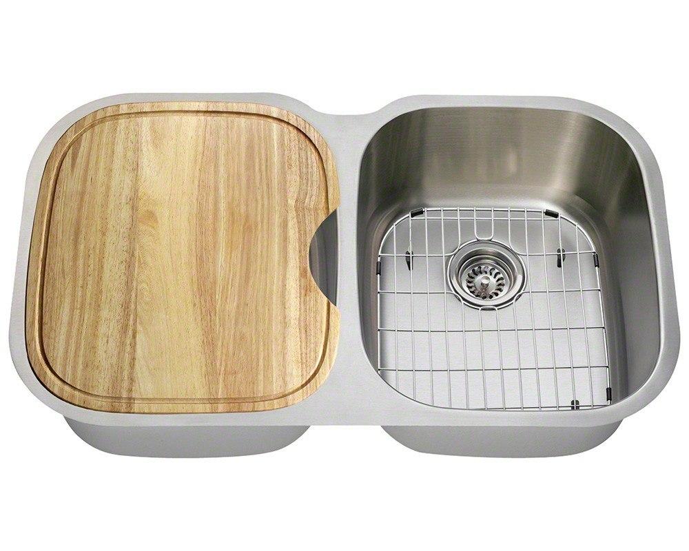 Polaris P405-16-ENS 16 Gauge 34-3/4 Inch Kitchen Ensemple in Brushed Satin