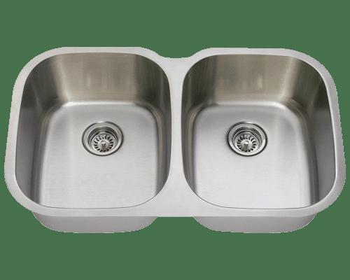 Polaris P405 Large Stainless Steel Kitchen Sink 34-3/4 Inch Brushed Satin
