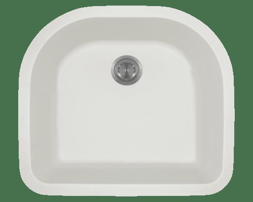 Polaris P428 24-3/4 Inch D-Bowl AstraGranite Sink