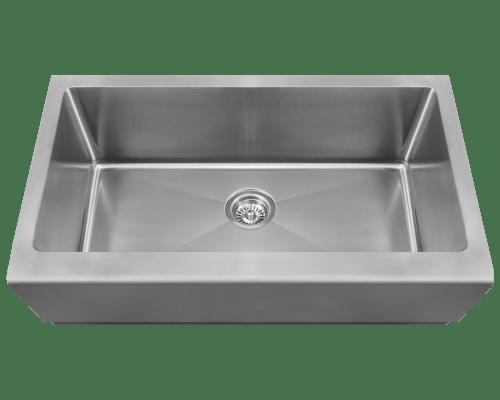 Polaris P504 Single Bowl Stainless Steel Apron Sink 32-3/4 Inch Brushed Satin