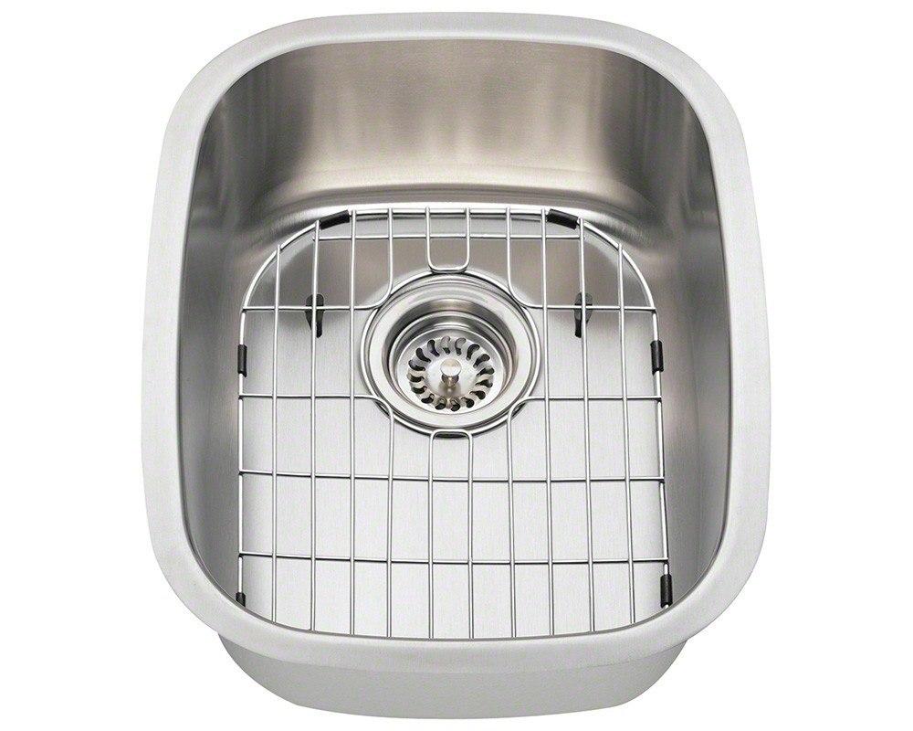 Polaris P5181-16-ENS 16 Gauge 15 Inch Kitchen Ensemple in Brushed Satin