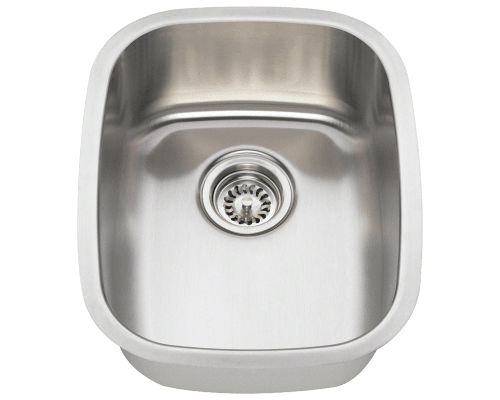 Polaris P5181 Stainless Steel Bar Sink 15 Inch Brushed Satin