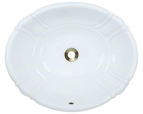 POLARIS P5181O 19-7/8 INCH PORCELAIN VESSEL / DROP-IN SINK