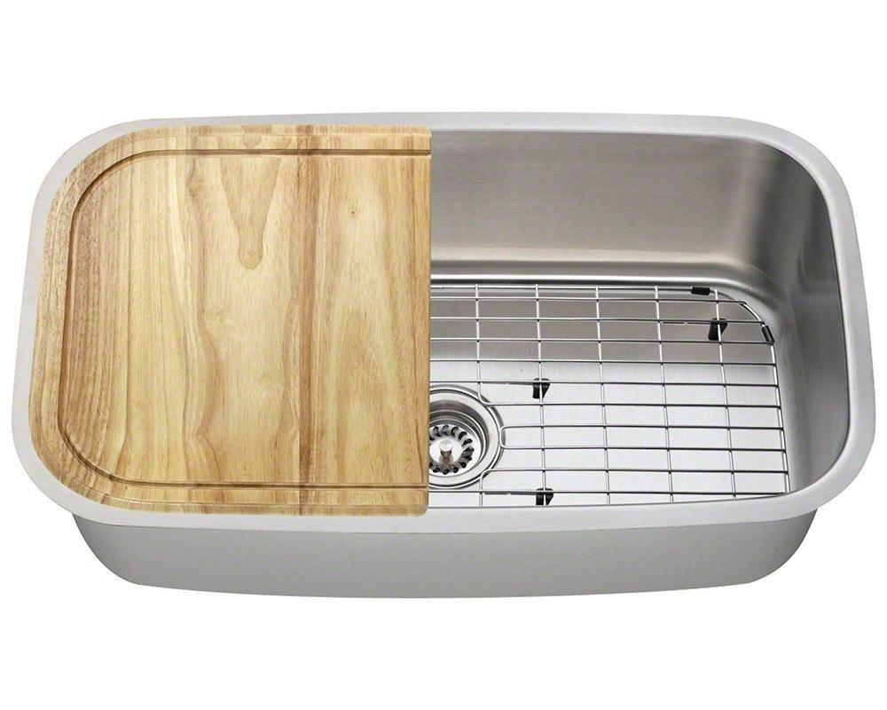 Polaris P813-18-ENS 18 Gauge 31-1/2 Inch Kitchen Ensemple in Brushed Satin