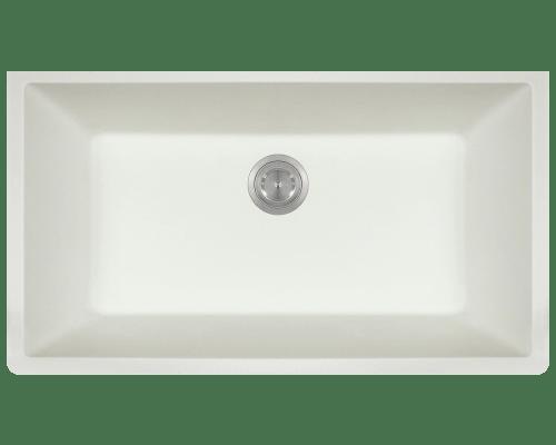 Polaris P848 32-5/8 Inch Large Single Bowl Undermount AstraGranite Kitchen Sink